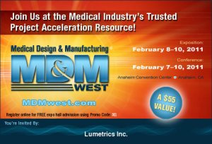 Thickness Measurement, Lumetrics, Inc. MD&M West 2011