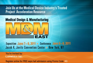 Lumetrics, Inc. MD&M East 2011 Trade Show