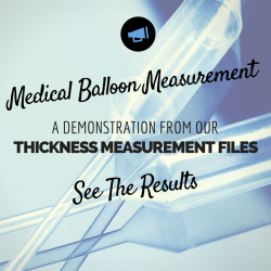 Thickness measurement of a medical balloon